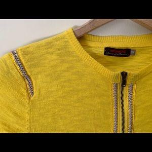 Catimini cardi / zip up / metallic braided detail